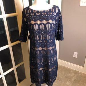 Lace, satin lined Eliza J dress
